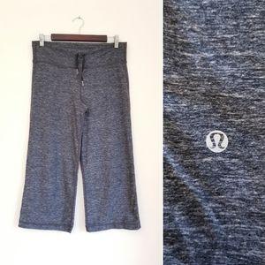 LULULEMON Wide Leg Yoga Capri Pants, Grey, 10